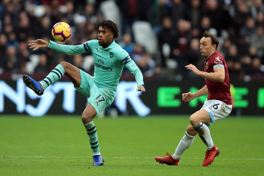 Iwobi was Arsenal's brightest attacker during their loss against West Ham. (Photo courtesy: AFP/Getty)