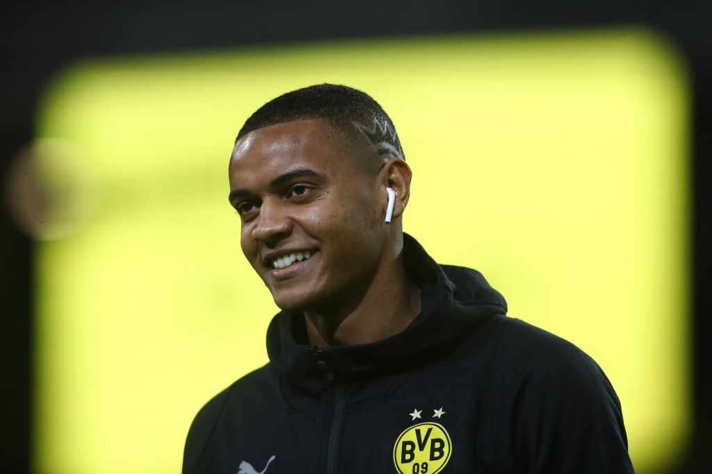 DORTMUND, GERMANY - NOVEMBER 10: Manuel Akanji of Dortmund looks on prior to the Bundesliga match between Borussia Dortmund and FC Bayern Muenchen at Signal Iduna Park on November 10, 2018 in Dortmund, Germany. (Photo by Alex Grimm/Bongarts/Getty Images)