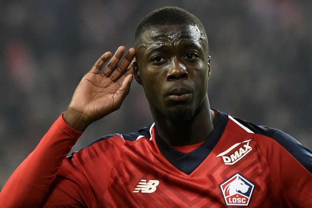Could Nicolas Pepe be wearing the red of Manchester United soon? (Picture Courtesy - AFP/Getty Images)