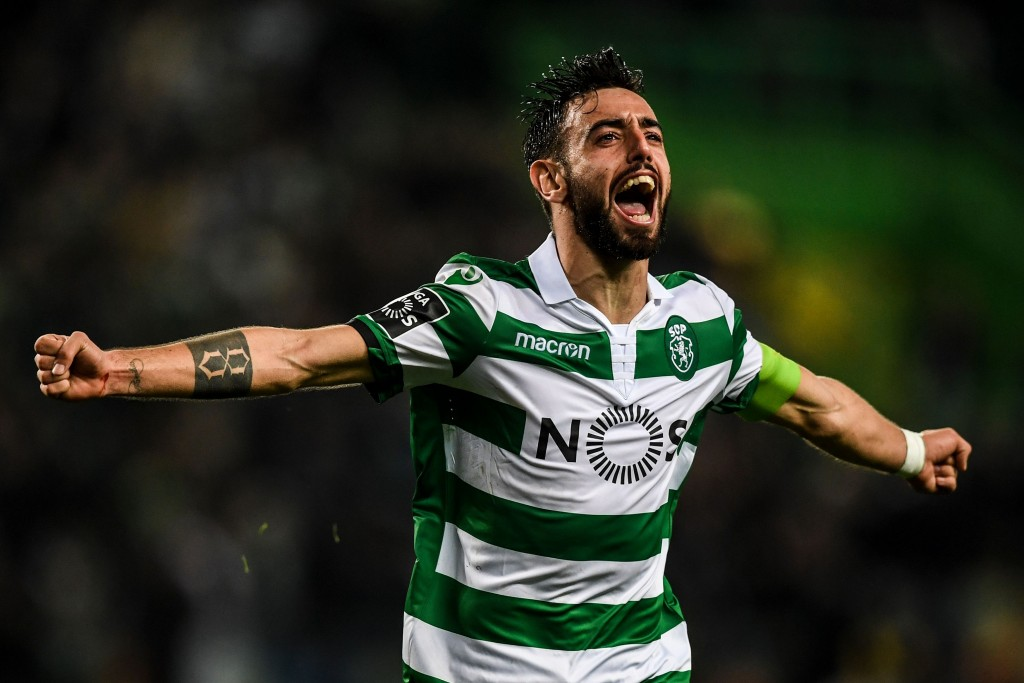 Bruno Fernandes has been Captain Fantastic for Sporting Lisbon this season. (Photo by Patricia de Melo Moreira/AFP/Getty Images)