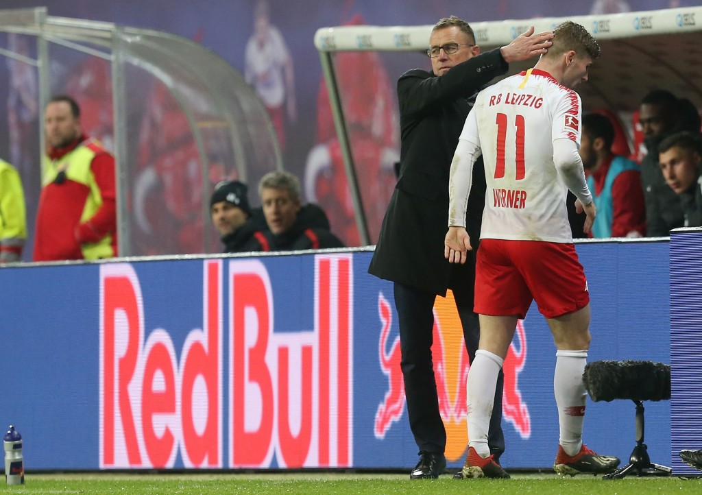 Rangnick is hoping to keep Timo Werner at Leipzig. (Photo by Matthias Kern/Bongarts/Getty Images)