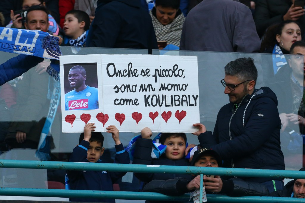 Koulibaly received support from all over the world after the incident. (Picture Courtesy - AFP/Getty Images)
