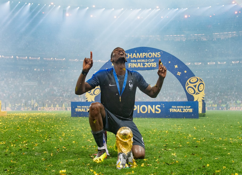 Pogba played an integral role in France's World Cup triumph (Photo by Matthias Hangst/Getty Images)