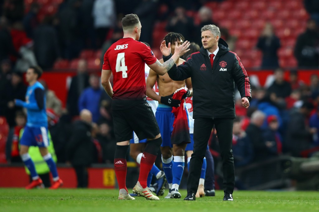 Jones has become surplus to requirements for Ole Gunnar Solskjaer. (Picture Courtesy - AFP/Getty Images)