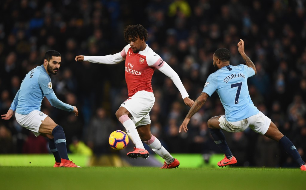 A night to forget for Iwobi. (Photo by Stu Forster/Getty Images)