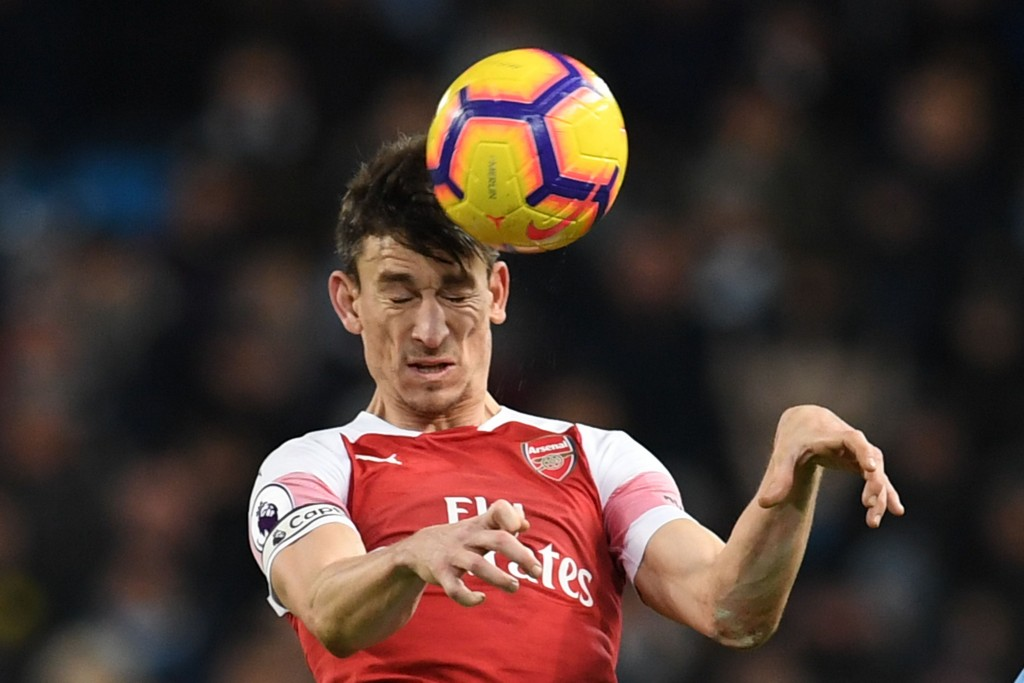 Koscielny was the best of the lot in a poor Arsenal defence. (Photo by Paul Ellis/AFP/Getty Images)