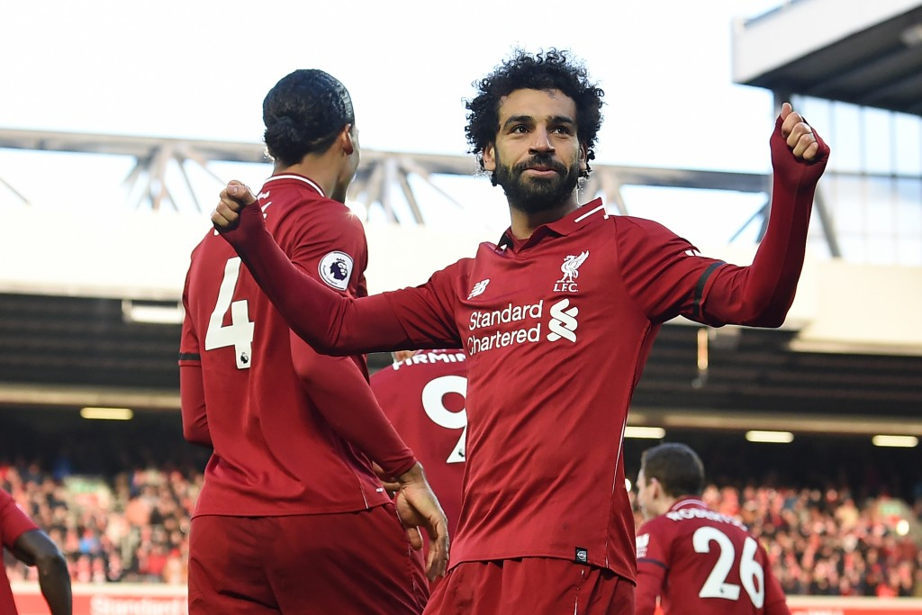 Salah on the scoresheet (Photo by PAUL ELLIS/AFP/Getty Images)