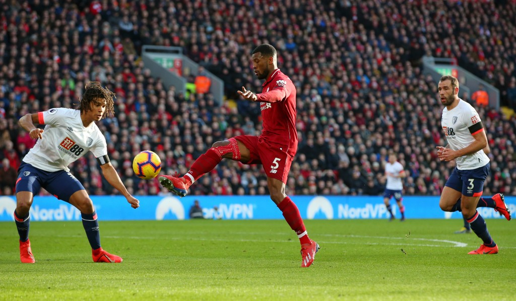 Wijnaldum runs the show for Liverpool (Photo by Alex Livesey/Getty Images)
