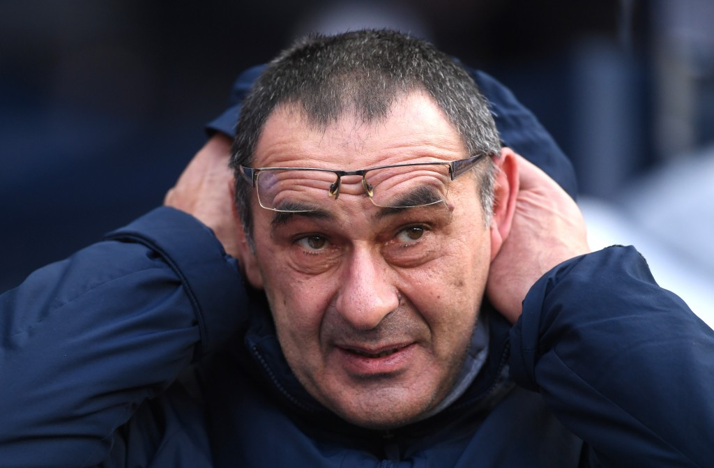 The pressure seems to be getting to Sarri. (Photo by Laurence Griffiths/Getty Images)