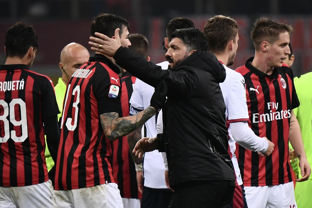 Gattuso's men have been on a solid run of form in recent weeks. (Photo by Marco Bertorello/AFP/Getty Images)