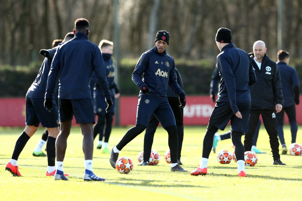 Busy in preparations ahead of their biggest test yet under Ole Gunnar Solskjaer. (Photo by Jan Kruger/Getty Images)