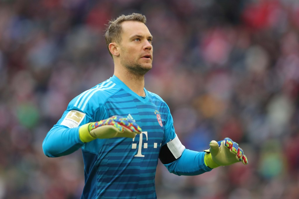 MUNICH, GERMANY - JANUARY 27: Manuel Neuer of Muenchen looks on during the Bundesliga match between FC Bayern Muenchen and VfB Stuttgart at Allianz Arena on January 27, 2019 in Munich, Germany. (Photo by Alexander Hassenstein/Bongarts/Getty Images)