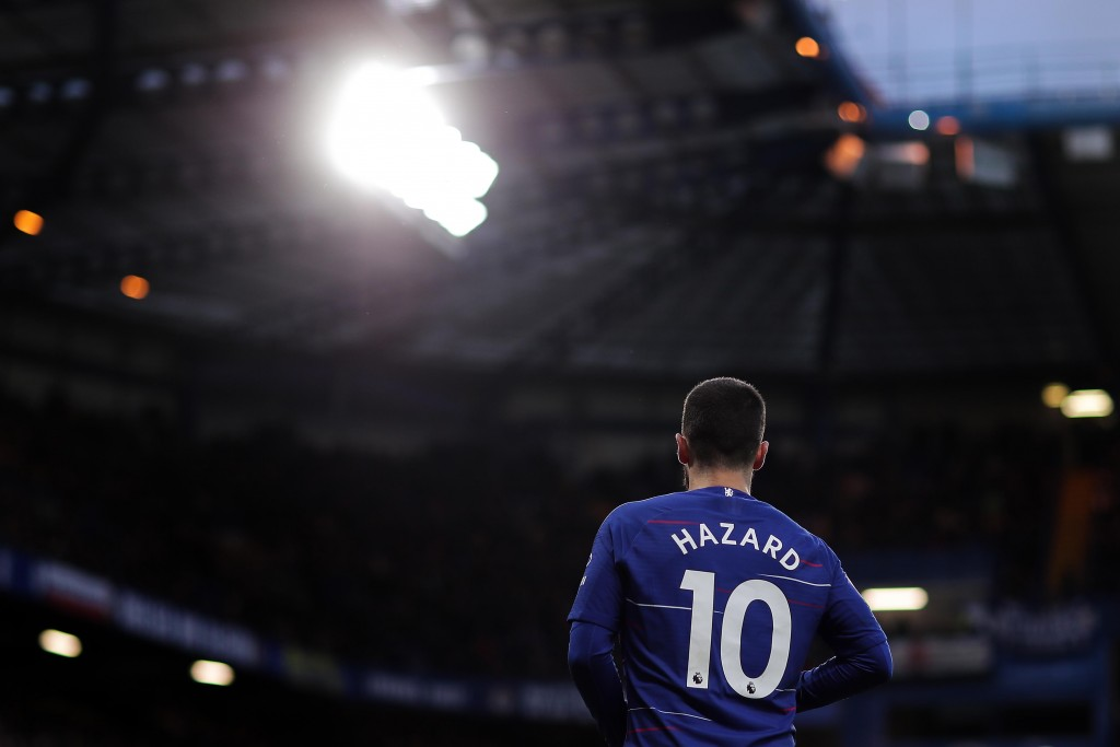 Will Hazard be back in blue in 2021/22? (Photo by Richard Heathcote/Getty Images)
