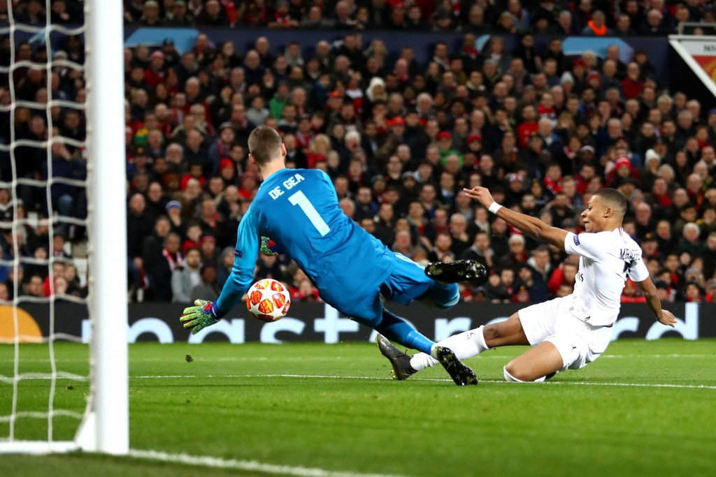 David de Gea saved United's blushes on Tuesday. (Photo by Michael Steele/Getty Images)