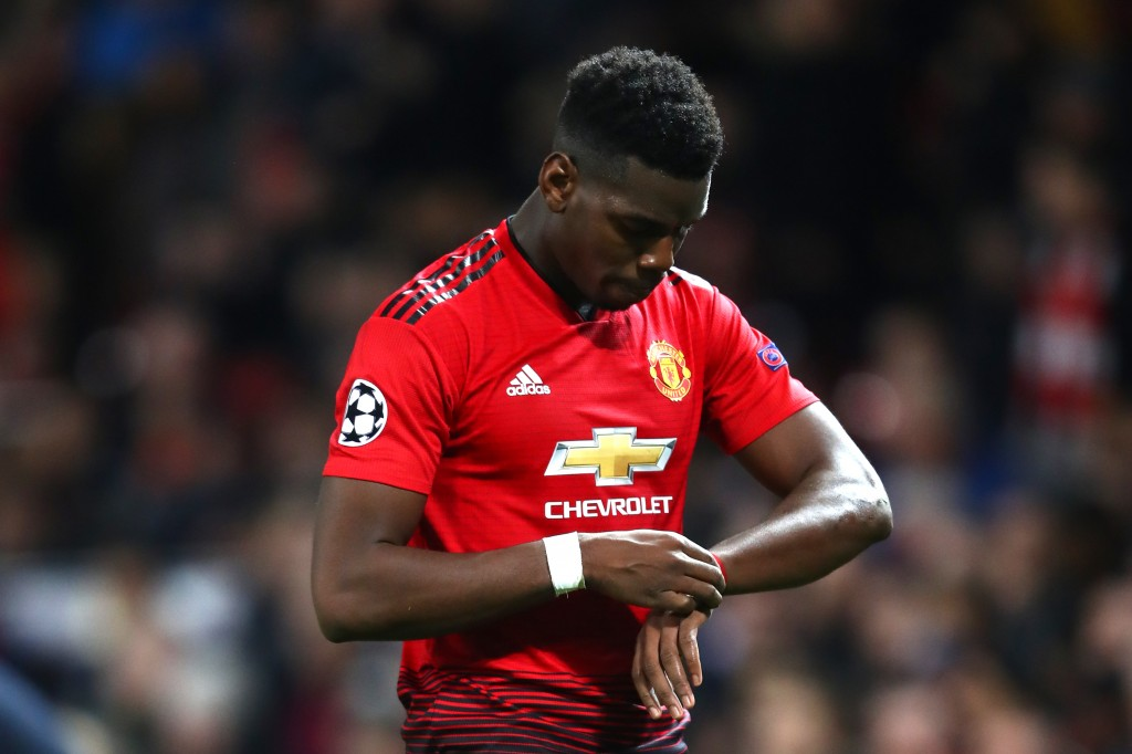 A night to forget for the Manchester United talisman. (Photo by Michael Steele/Getty Images)