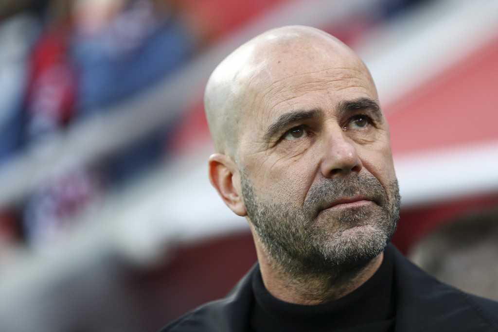 LEVERKUSEN, GERMANY - FEBRUARY 17: Peter Bosz, head coach of Bayer 04 Leverkusen looks on prior to the Bundesliga match between Bayer 04 Leverkusen and Fortuna Duesseldorf at BayArena on February 17, 2019 in Leverkusen, Germany. (Photo by Maja Hitij/Bongarts/Getty Images)