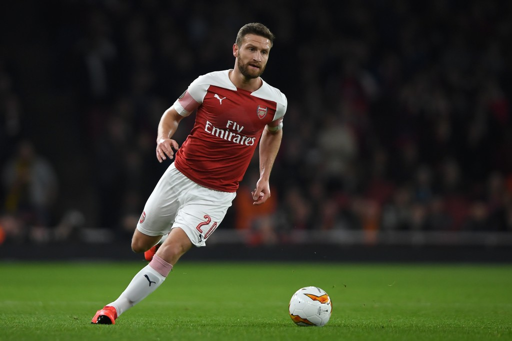 Mustafi's time at Arsenal could come to an end in the summer. (Photo by Mike Hewitt/Getty Images)