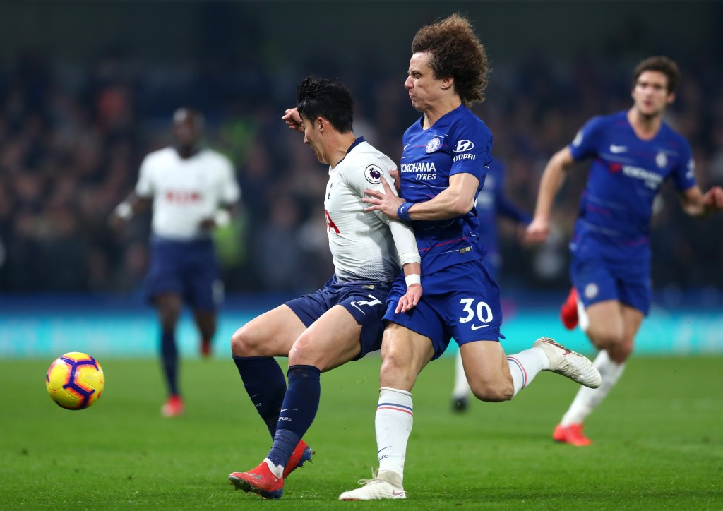 Luiz kept Son quiet (Photo by Clive Rose/Getty Images)