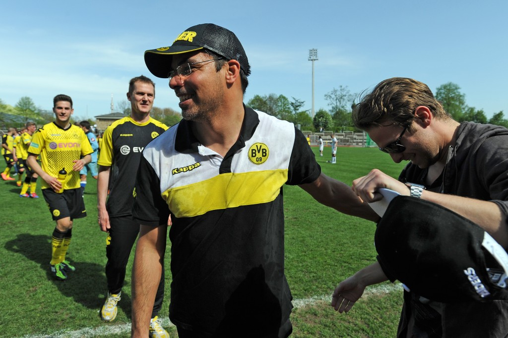David Wagner forged a close friendship with Jurgen Klopp during their time at Borussia Dortmund. (Photo by Bongarts/Getty Images)