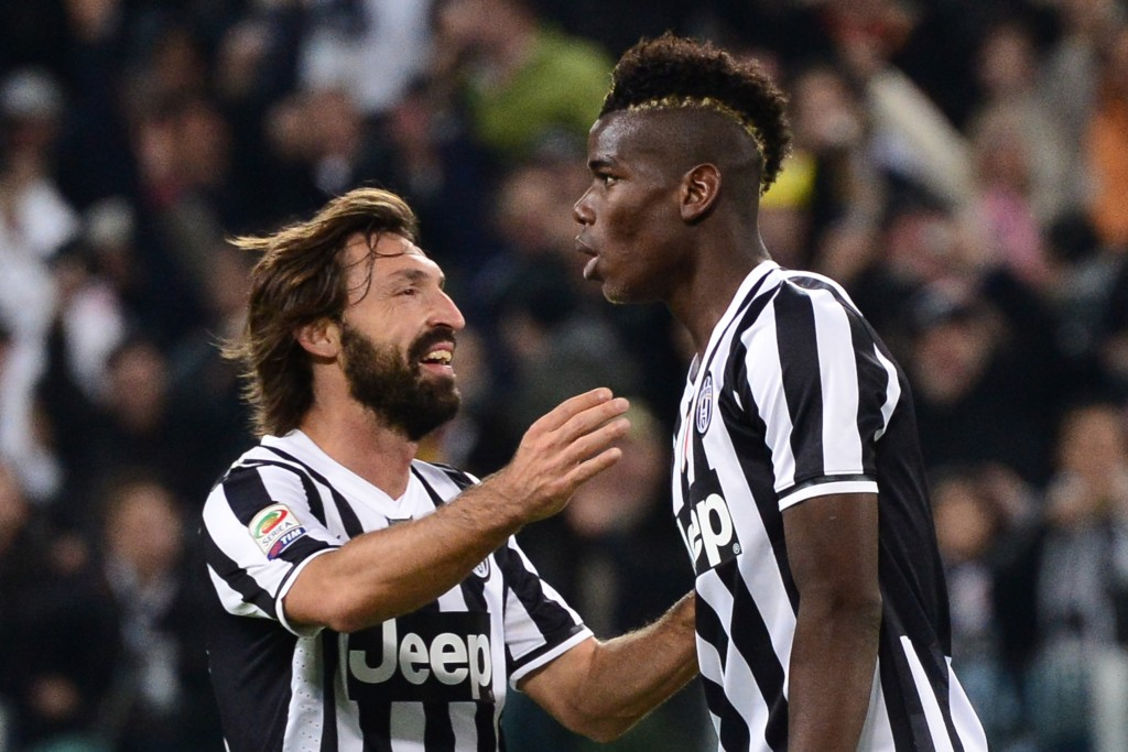 Pogba learned a lot from his time at Juventus with Pirlo (Photo by GIUSEPPE CACACE/AFP/Getty Images)