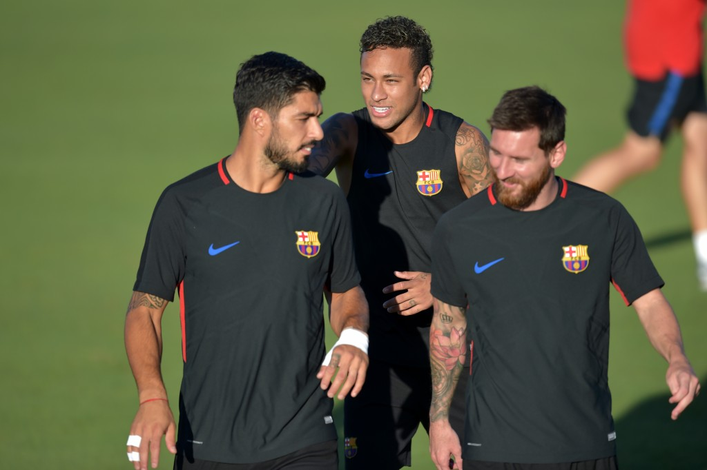 In the summer of 2017, the MSN was broken up by Neymar's departure for PSG. (Photo by Hector Retamal/AFP/Getty Images)