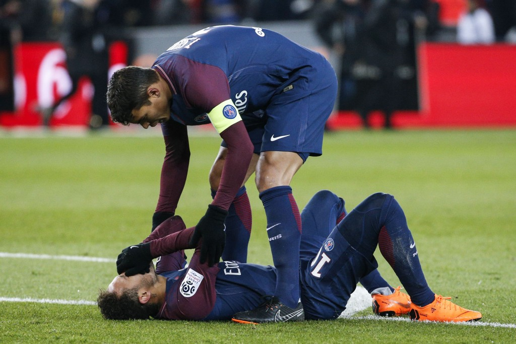 A long-term injury brought a premature end to Neymar's first season at PSG. (Photo by Geoffroy van der Hasselt/AFP/Getty Images)