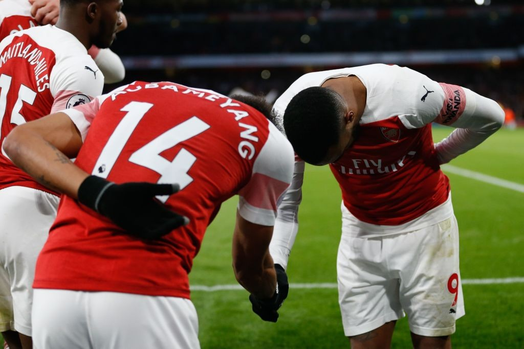 Lacazette wo the penalty and Aubameyang scored it to help Arsenal win. (Photo courtesy: AFP/Getty)