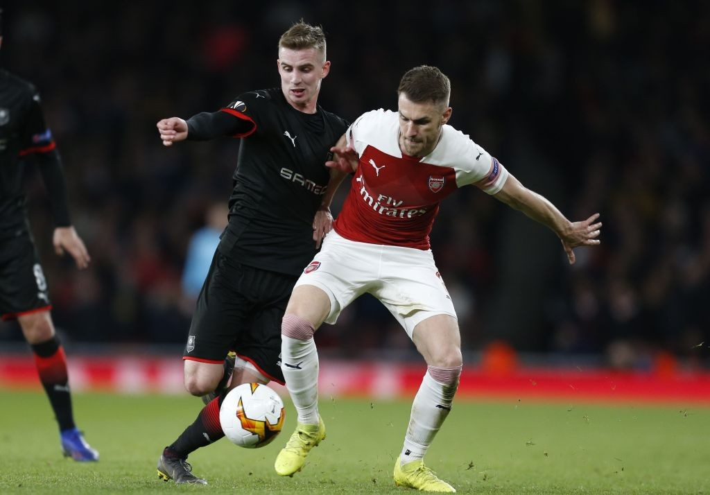 Ramsey has been growing in the midfield role with yet another strong performance. (Photo courtesy: AFP/Getty)