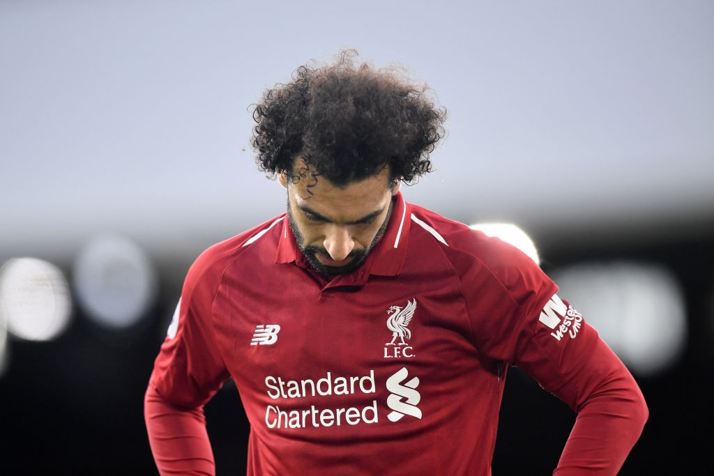 Salah has now gone seven straight games without a goal. (Photo courtesy: AFP/Getty)