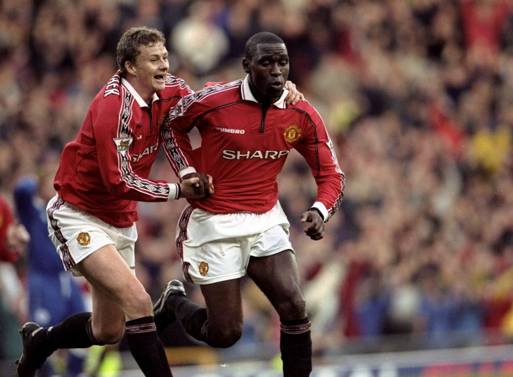 Andy Cole has jumped to the defence of his former striker partner. (Photo by Alex Livesey /Allsport)