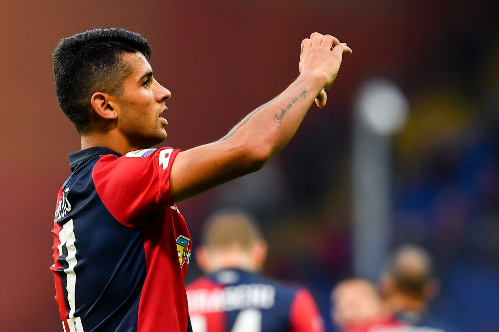 Cristian Romero misses out for Genoa due to an injury. (Photo by Paolo Rattini/Getty Images)