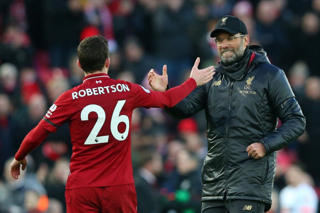 Robertson has become one of Jurgen Klopp's trusted lieutenants after a slow start to his Liverpool stint. (Photo by Alex Livesey/Getty Images)
