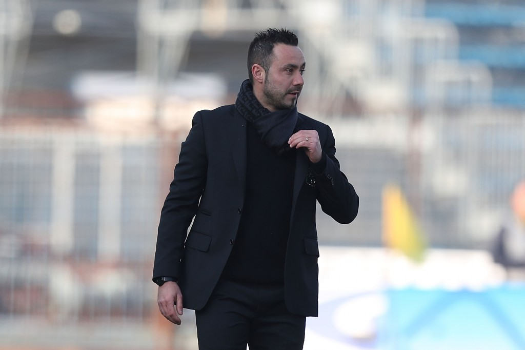 EMPOLI, ITALY - FEBRUARY 17: Roberto De Zerbi manager of US Sassuolo looks on during the Serie A match between Empoli and US Sassuolo at Stadio Carlo Castellani on February 17, 2019 in Empoli, Italy. (Photo by Gabriele Maltinti/Getty Images)