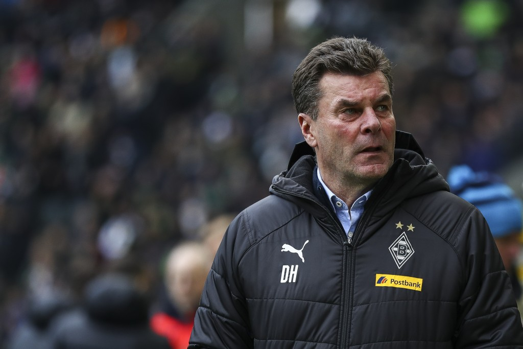 MOENCHENGLADBACH, GERMANY - FEBRUARY 09: Dieter Hecking head coach of Borussia Monchengladbach looks on prior to the Bundesliga match between Borussia Moenchengladbach and Hertha BSC at Borussia-Park on February 09, 2019 in Moenchengladbach, Germany. (Photo by Maja Hitij/Bongarts/Getty Images)