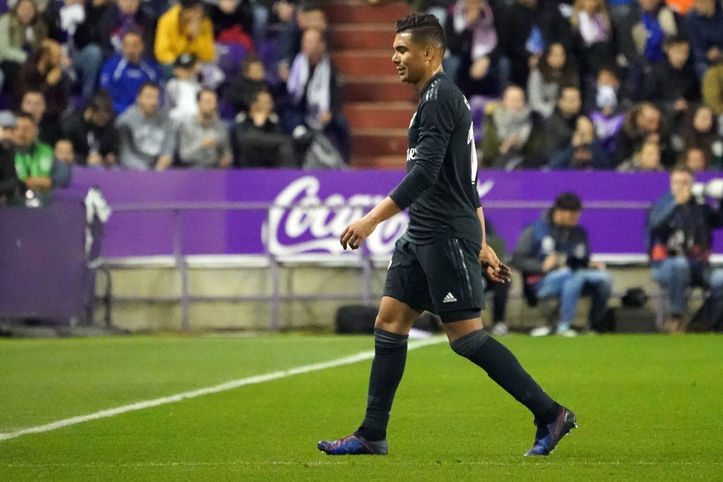 Casemiro was given his marching orders (Photo by CESAR MANSO/AFP/Getty Images)