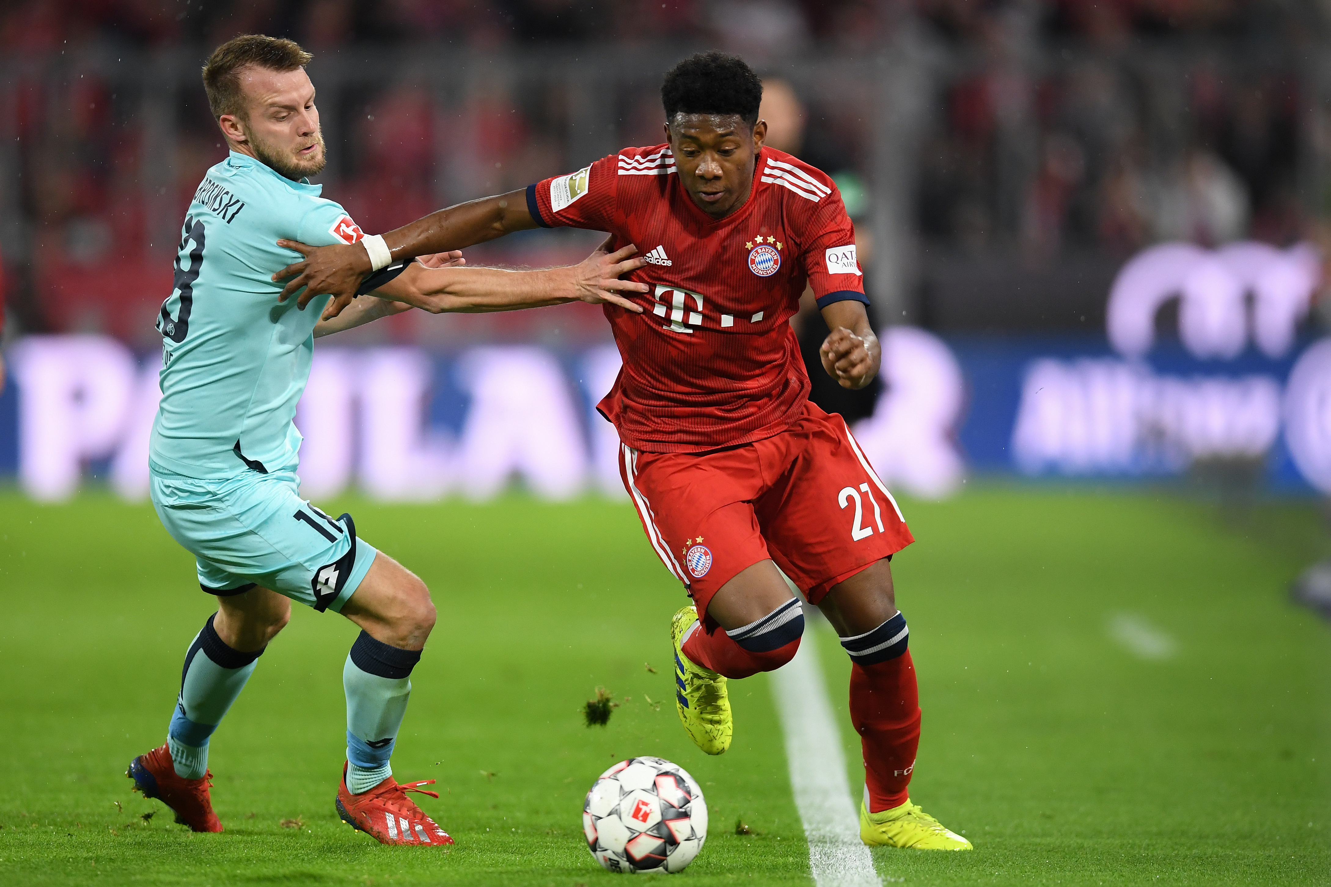 Alaba has been the first choice left-back at Bayern for years and now his place is under threat. (Photo courtesy: AFP/Getty)