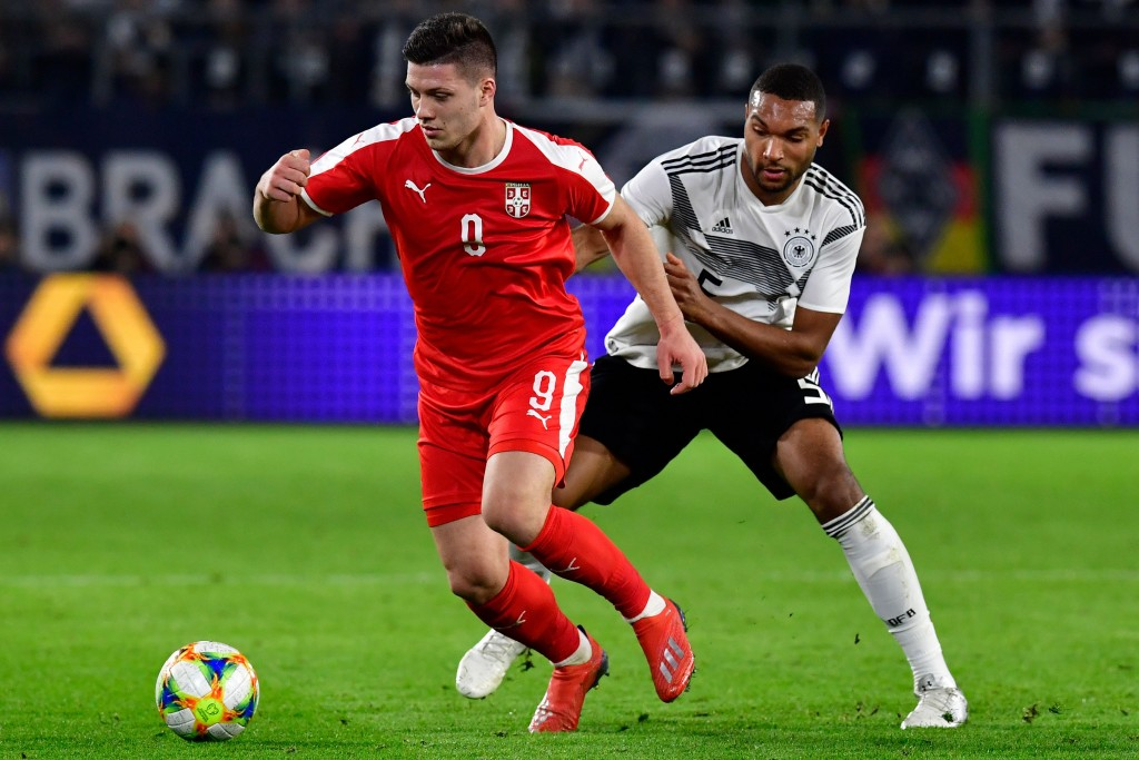 The man in form, Luka Jovic. (Photo by Tobias Schwarz/AFP/Getty Images)