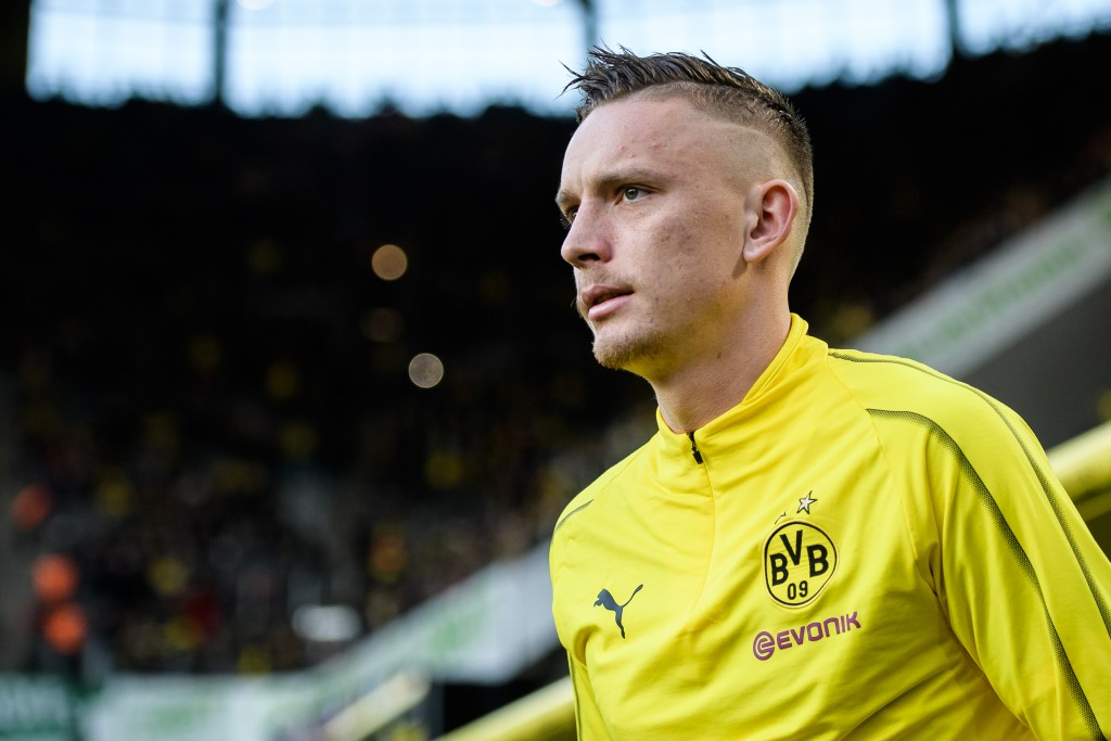 DORTMUND, GERMANY - FEBRUARY 24: Marius Wolf of Dormtund prior the Bundesliga match between Borussia Dortmund and Bayer 04 Leverkusen at the Signal Iduna Park on February 24, 2019 in Dortmund, Germany. (Photo by Jörg Schüler/Getty Images)