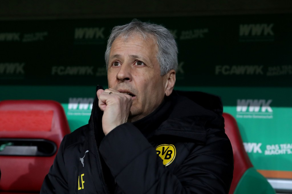 Lucien Favre needs to rally his troops to script a comeback tale for his Dortmund.. (Photo by Alexander Hassenstein/Bongarts/Getty Images)