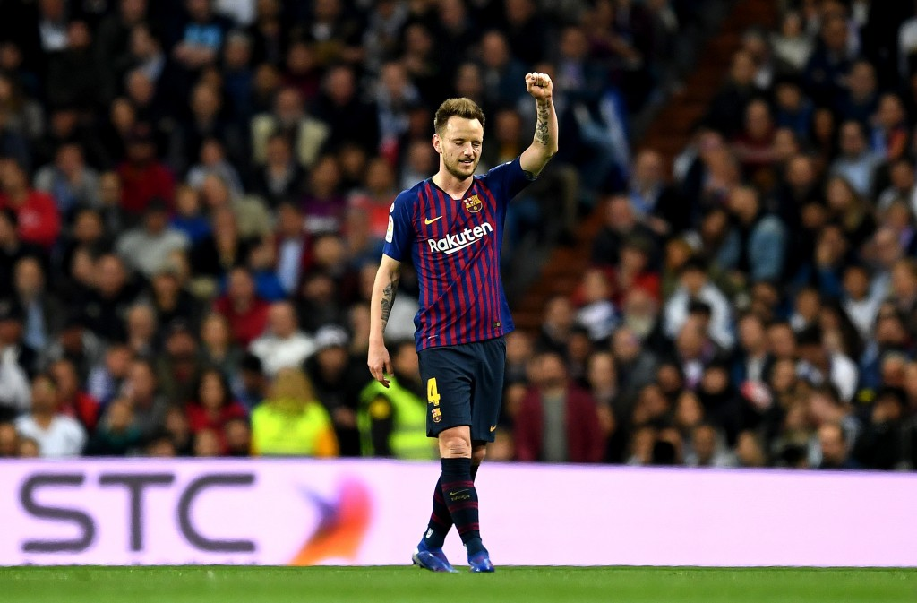 Will Rakitic stay put at Barcelona? (Photo by David Ramos/Getty Images)