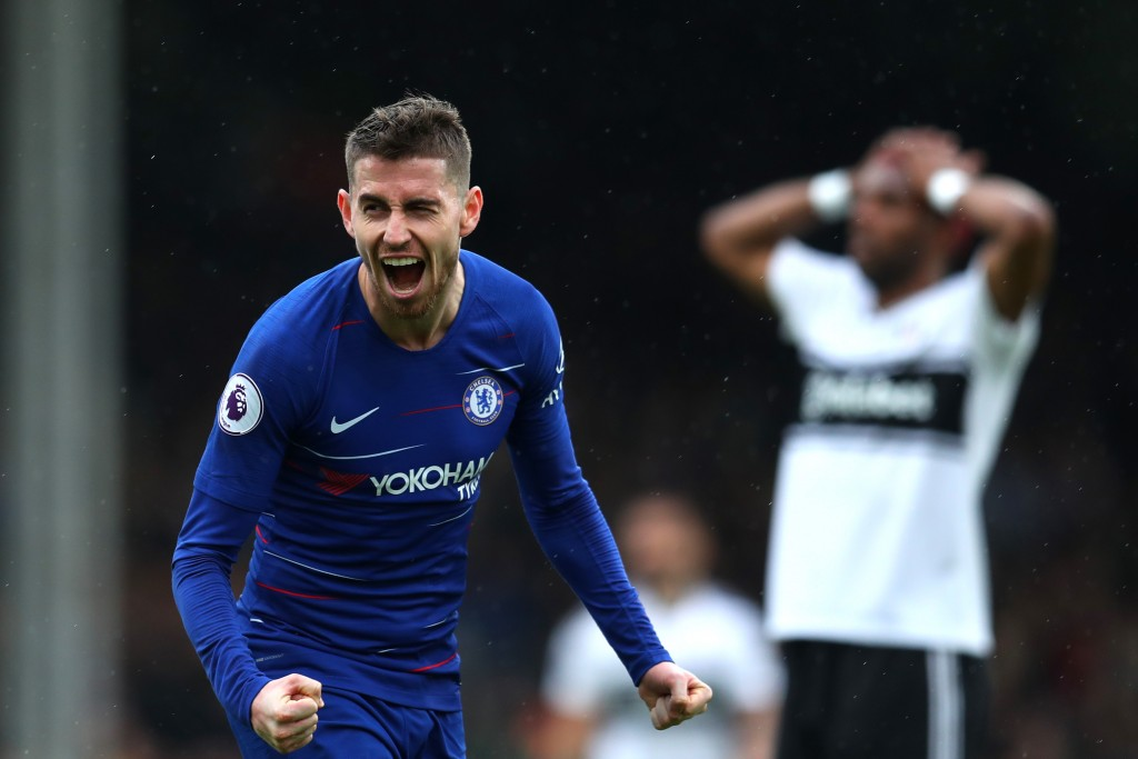 Jorginho scored his first goal from open play for Chelsea (Photo by Catherine Ivill/Getty Images)