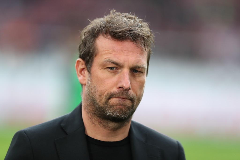 STUTTGART, GERMANY - MARCH 03: Head coach Markus Weinzierl of VfB Stuttgart looks on prior to the Bundesliga match between VfB Stuttgart and Hannover 96 at Mercedes-Benz Arena on March 3, 2019 in Stuttgart, Germany. (Photo by Christian Kaspar-Bartke/Bongarts/Getty Images)