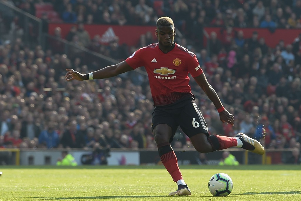 Off-colour display from Pogba (Photo by PAUL ELLIS/AFP/Getty Images)