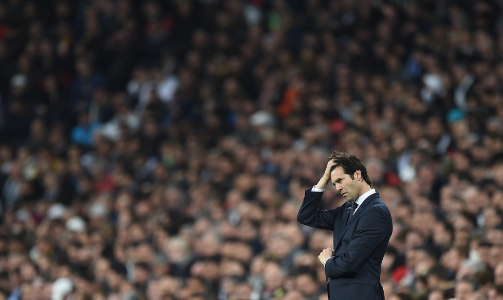 Santiago Solari ended up digging his own grave after Real Madrid bowed out of two competitions within a week. (Photo by Denis Doyle/Getty Images)