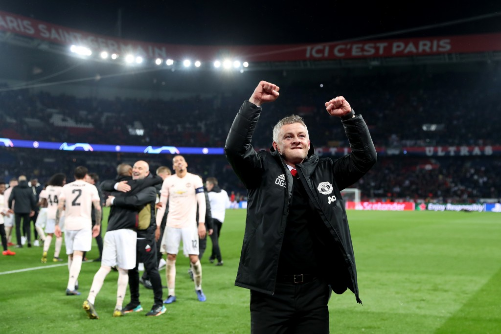 Solskjaer's Manchester United registered a breathtaking comeback win against PSG (Picture Courtesy - AFP/Getty Images)