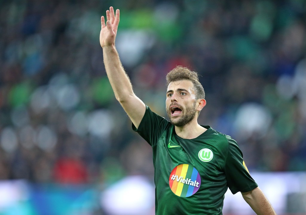 WOLFSBURG, GERMANY - MARCH 16: Admir Mehmedi of VfL Wolfsburg gestures during the Bundesliga match between VfL Wolfsburg and Fortuna Duesseldorf at Volkswagen Arena on March 16, 2019 in Wolfsburg, Germany. (Photo by Cathrin Mueller/Bongarts/Getty Images)