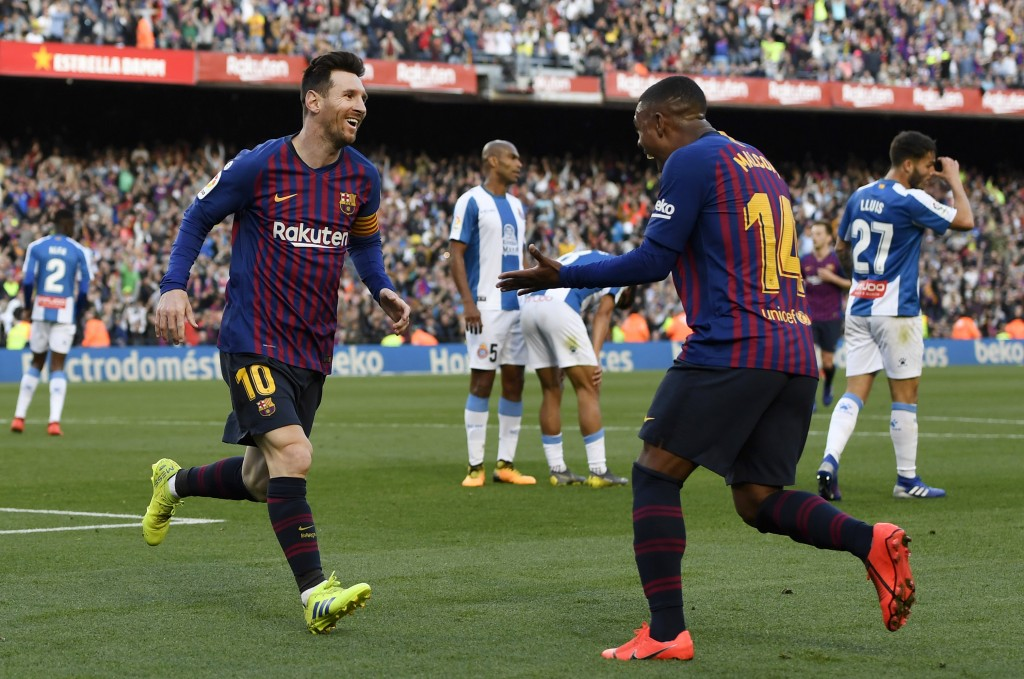 Malcom provided a fantastic assist for Messi's second goal. (Photo by Alex Caparros/Getty Images)