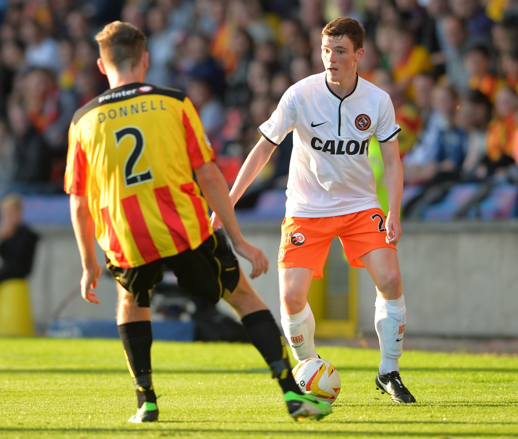 Robertson (R) was a revelation at Dundee United. (Photo by Mark Runnacles/Getty Images)