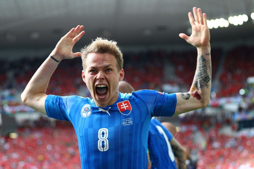 Ondrej Duda will be the man leading the line for Slovakia versus Spain. (Photo by Ian Walton/Getty Images)