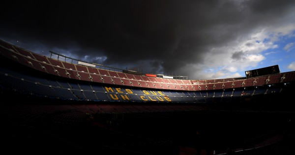 BARCELONA, SPAIN - SEPTEMBER 12:  A general view of the Camp Nou ahead of the UEFA Champions League Group D match between FC Barcelona and Juventus at Camp Nou on September 12, 2017 in Barcelona, Spain.  (Photo by David Ramos/Getty Images)
